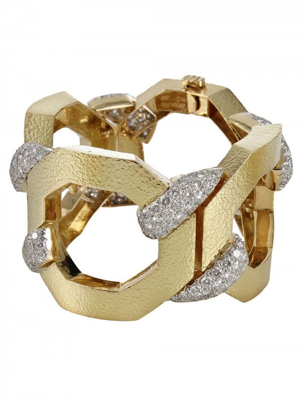 David Webb : Diamonds and Gold Bracelet