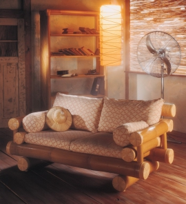 Luxury Wooden Sofa