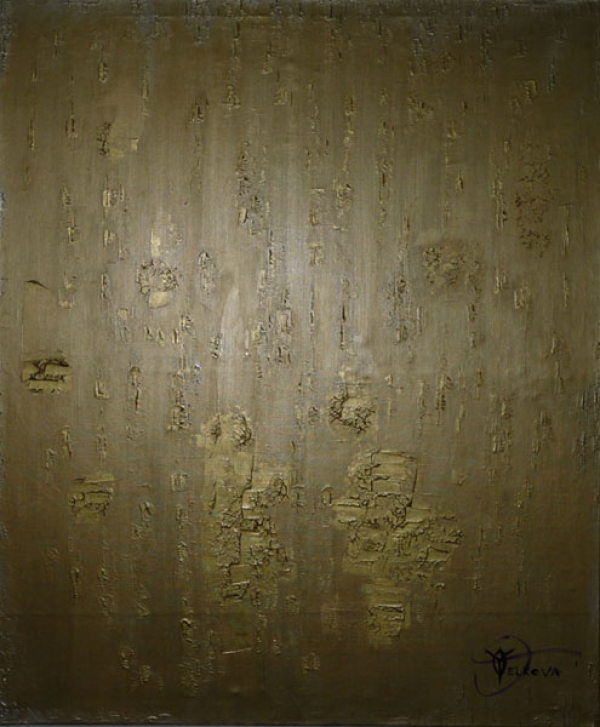 RECESSION – 22 Karat Gold on Golden Acrylic on canvas